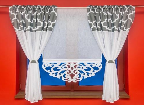 Zestaw Firana Z Marokańską Koniczyną Plus Panel Ekran Z Ażurem